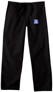 Duke University Black Classic Scrub Pants