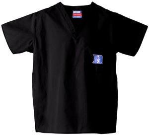 Duke University Black Classic Scrub Tops