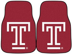 Fan Mats Temple University Carpet Car Mats