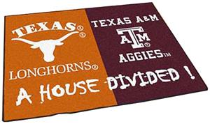 Fan Mats Texas/Texas A&M House Divided Mat