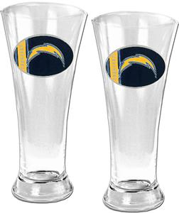 NFL San Diego Chargers 2 Piece Pilsner Glass Set