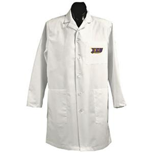 East Carolina Univ White Long Labcoats