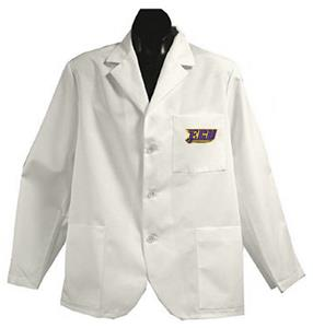 East Carolina Univ White Short Labcoats