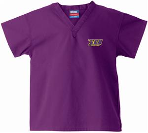 East Carolina Univ Kid's Purple Scrub Tops