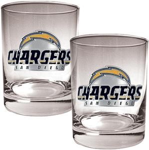 NFL San Diego Chargers 14oz Rocks Glass Set of 2