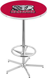 Holland Univ of Alabama Elephant Chrome Pub Table