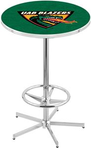 Univ of Alabama Birmingham Chrome Pub Table