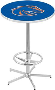 Boise State University Chrome Pub Table