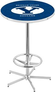 Brigham Young University Chrome Pub Table