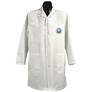 East Tennessee State Univ White Long Labcoats