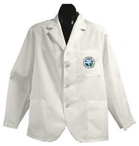 East Tennessee State Univ White Short Labcoats