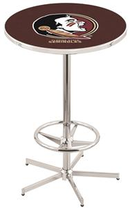 Florida State Head Chrome Pub Table