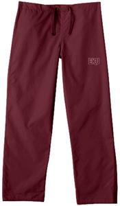 Eastern Kentucky Univ Maroon Classic Scrub Pants