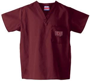 Eastern Kentucky Univ Maroon Classic Scrub Tops