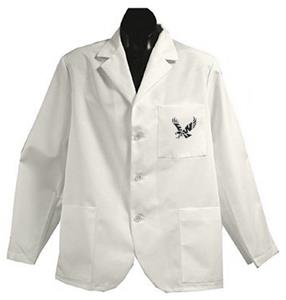 Eastern Washington Univ White Short Labcoats