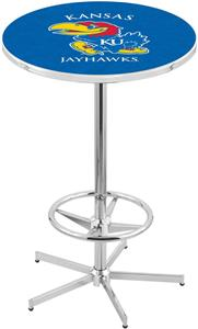 University of Kansas Chrome Pub Table