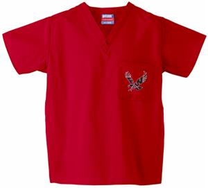 Eastern Washington Univ Red Classic Scrub Tops