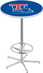 Louisiana Tech University Chrome Pub Table