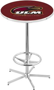 Univ of Louisiana Monroe Chrome Pub Table
