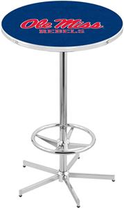 University of Mississippi Chrome Pub Table