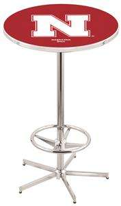 University of Nebraska Chrome Pub Table