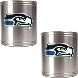 NFL Seattle Seahawks Stainless Steel Can Holders