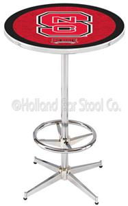 North Carolina State University Chrome Pub Table
