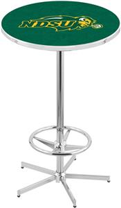 North Dakota State University Chrome Pub Table