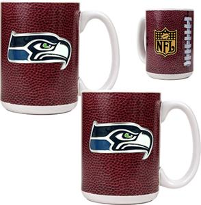 NFL Seattle Seahawks Gameball Mug (Set of 2)