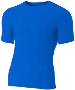 A4 Adult Short Sleeve Spandex Compression Crew Tee