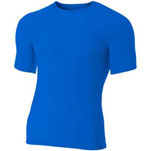 A4 Adult Short Sleeve Compression Crew Shirts