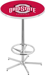 Ohio State University Chrome Pub Table