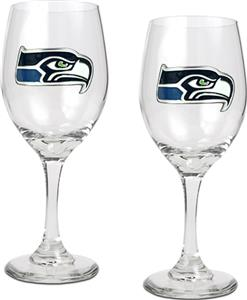 NFL Seattle Seahawks 2 Piece Wine Glass Set