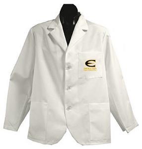 Emporia State Univ White Short Labcoats