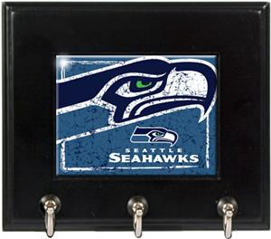 NFL Seattle Seahawks Wood Keyhook Rack