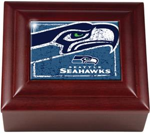 NFL Seattle Seahawks Mahogany Keepsake Box