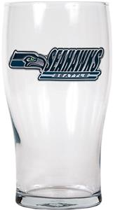 NFL Seattle Seahawks Pub Glass (Logo & Team Name)