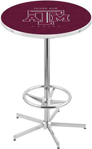 Holland Texas A&M Chrome Pub Table