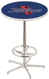 University of Tulsa Chrome Pub Table