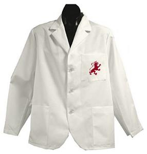 Flagler College White Short Labcoats