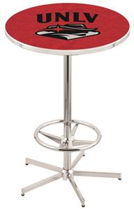 Univ of Nevada Las Vegas Chrome Pub Table