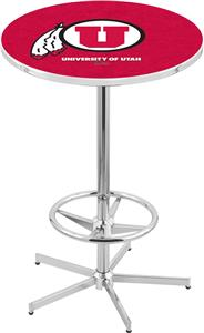 University of Utah Chrome Pub Table