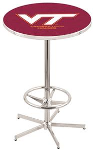 Virginia Tech University Chrome Pub Table