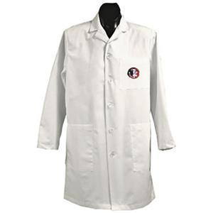 Florida State Univ White Long Labcoats