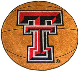 Fan Mats Texas Tech University Basketball Mat