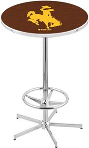 University of Wyoming Chrome Pub Table