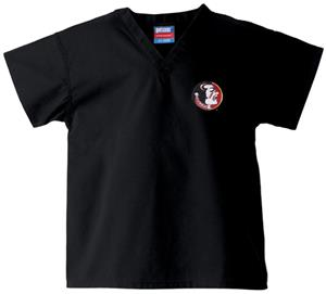 Florida State Univ Kid's Black Scrub Tops
