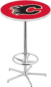 Calgary Flames NHL Chrome Pub Table