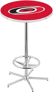 Carolina Hurricanes NHL Chrome Pub Table