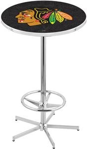 Chicago Blackhawks Blk NHL Chrome Pub Table